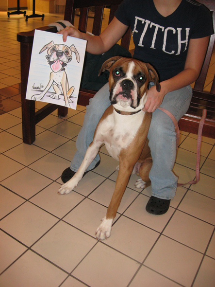 pet caricatures by Angie Jordan