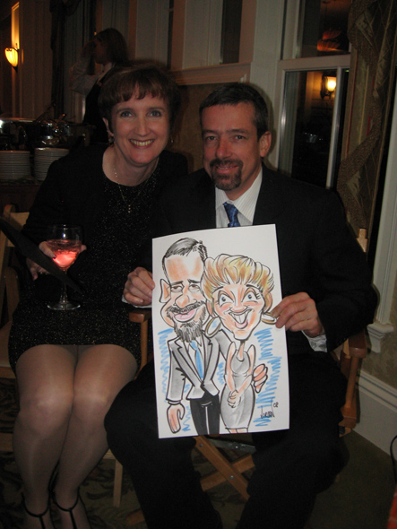 Couple Caricatures by Angie Jordan