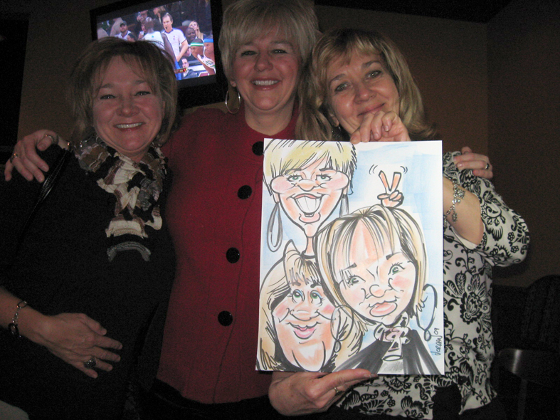 group caricatures by Angie jordan