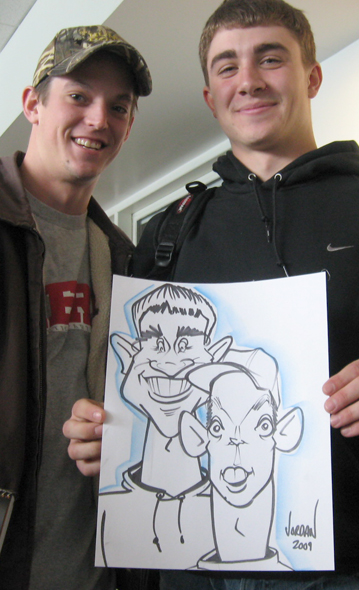 college caricatures by angie jordan