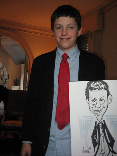 party caricatures by angie jordan