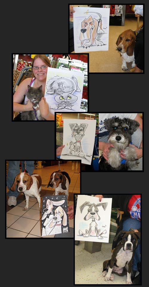 Pet Caricatures by Angie Jordan