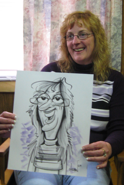 Angie Jordan's Birthday Caricatures