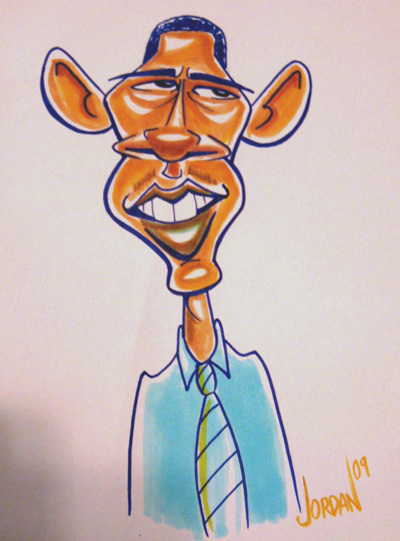 Obama Caricature by Angie Jordan