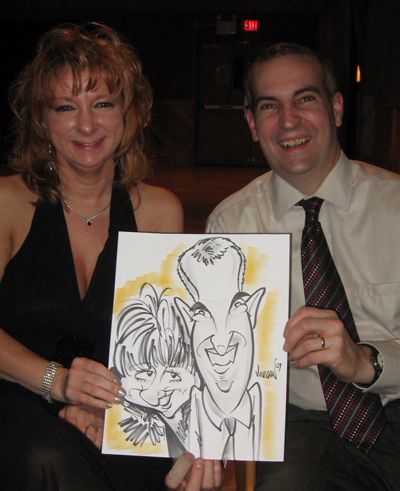 Caricature by Angie Jordan