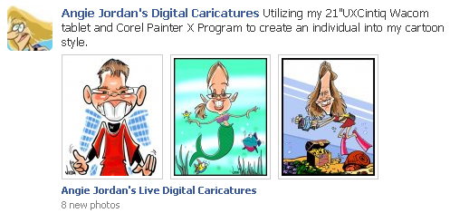 Angie's Live Digital Caricatures