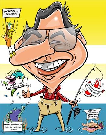 Digital Caricature of Joe Fishing