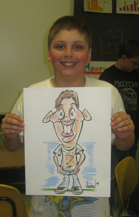 Angie's Traditional Live Party Caricatures full body