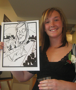College graduation caricatures by angie jordan