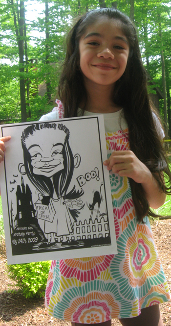 halloween caricatures by angie jordan