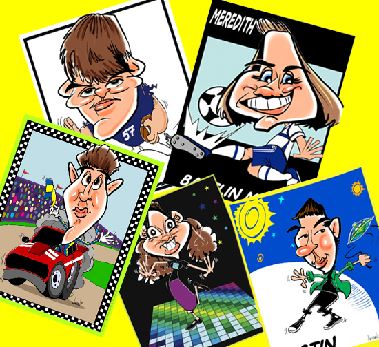 digital caricatures and cartoons by angie jordan