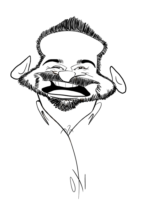 Billy Mays Cartoon by Angie Jordan 2009