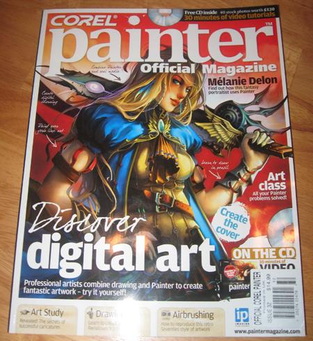 Angie Jordan Painter Magazine Art Study, August 2009