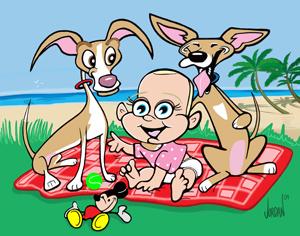 Family cartoon by Angie Jordan