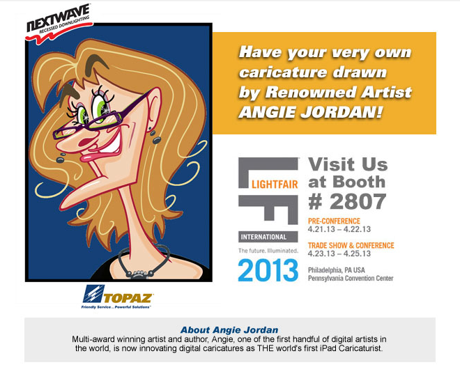 Angie at Lightfair in Philly 2013