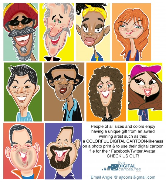 Angie Jordan's Colorful Live Digital Caricatures!