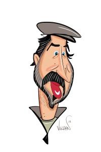 Scott Sullivan in my digital cartoon style!