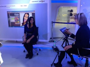 Digital Caricatures drawn live at Auto Expo