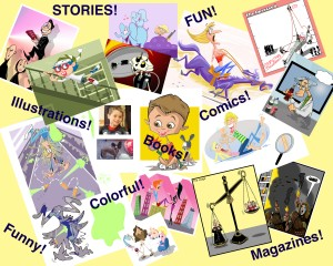 Digital artist for stories, books, magazine articles, children books, digital popups, animation, comics, and more!