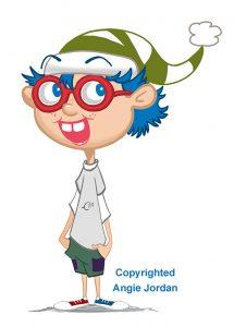 Meet Xor, my own cartoon character.