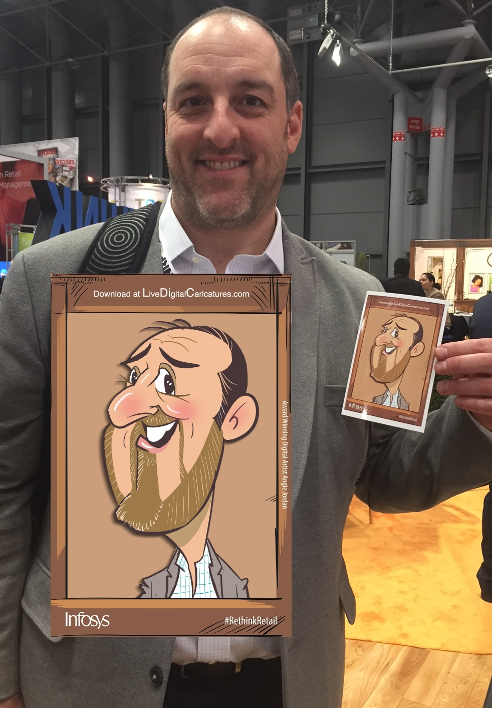 annual nrf in nyc angie jordan live digital caricatures