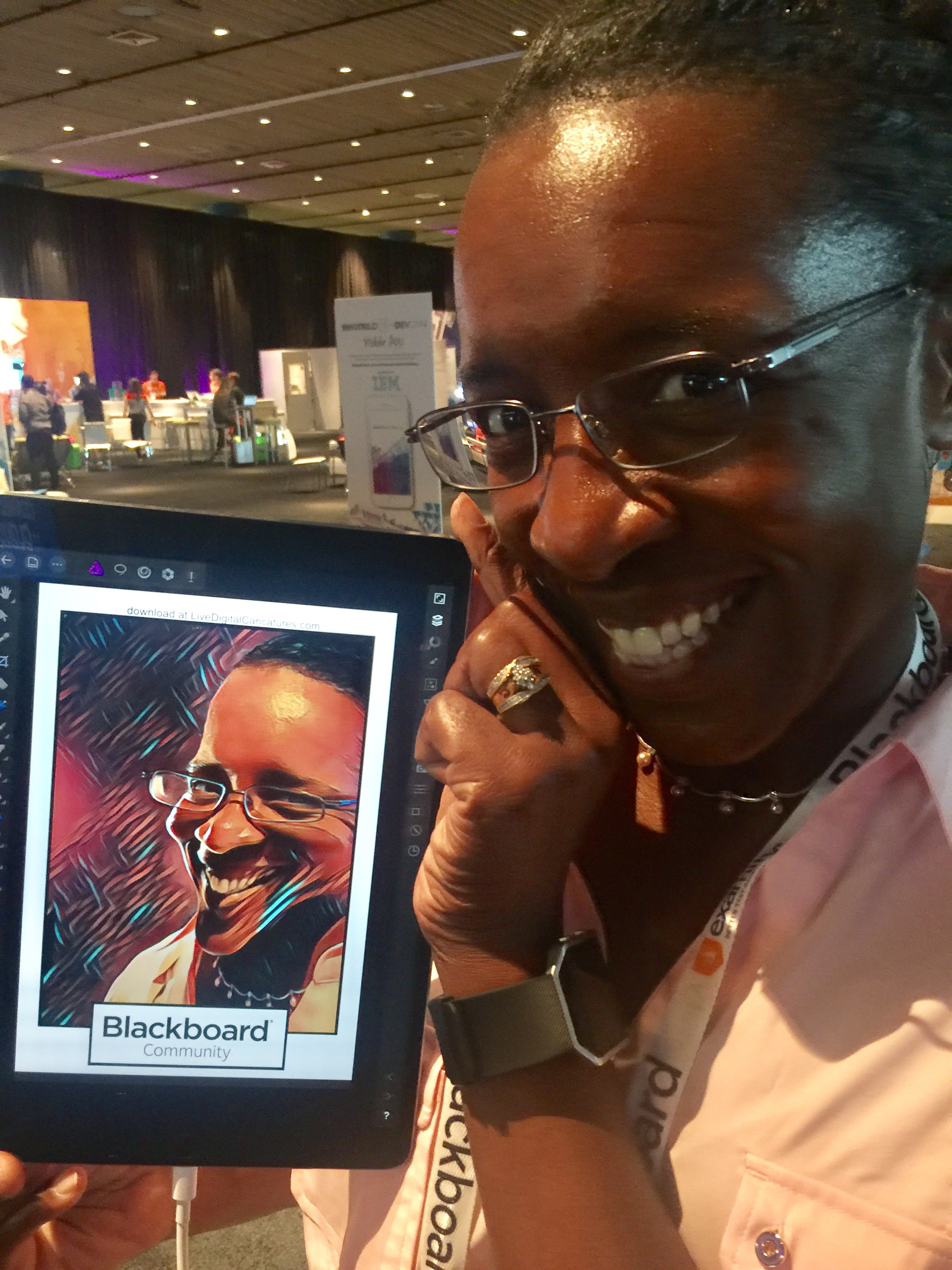 BbWorld 2017 | Angie Jordan Live Digital Caricatures